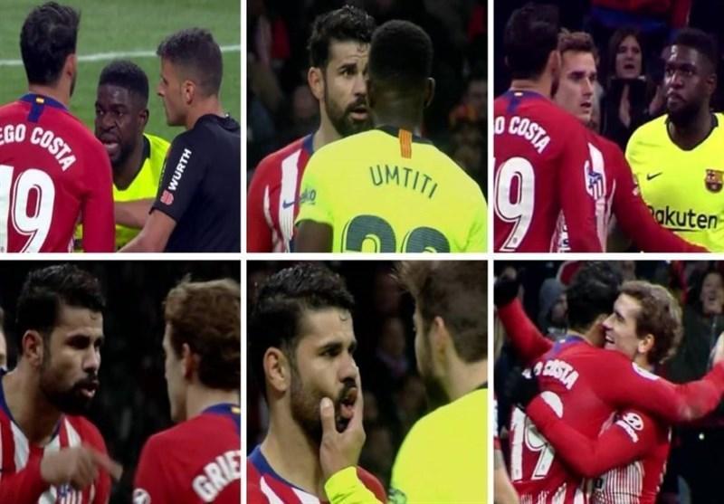 فوتبال دنیا، دلیل مشاجره کاستا و گریزمان در مصاف با بارسلونا چه بود؟