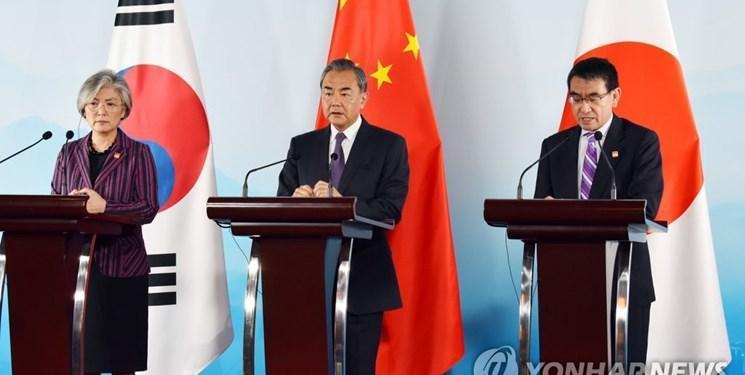 درخواست پکن از توکیو و سئول برای حل اختلافات به وسیله گفت وگو