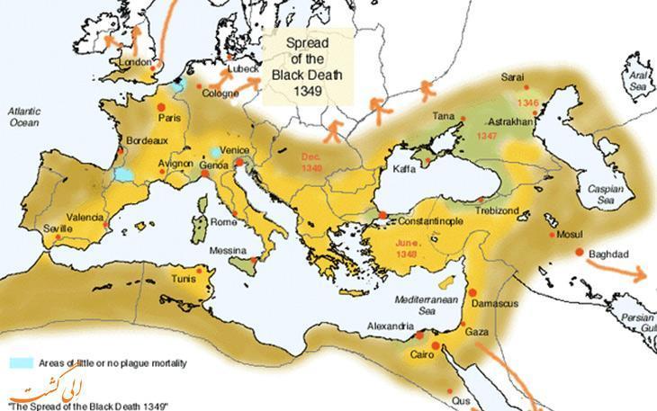فاجعه طاعون یا مرگ سیاه و تاثیرش بر تاریخ اروپا