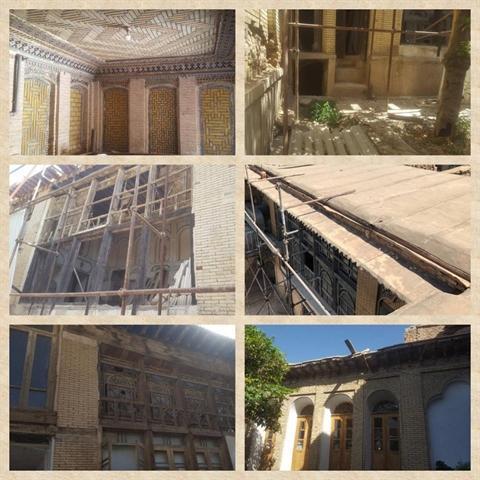 مرمت 3 خانه تاریخی گذر سنگ سیاه شیراز