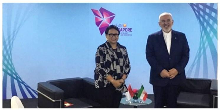 گفت و گوی وزرای خارجه ایران و اندونزی در سنگاپور