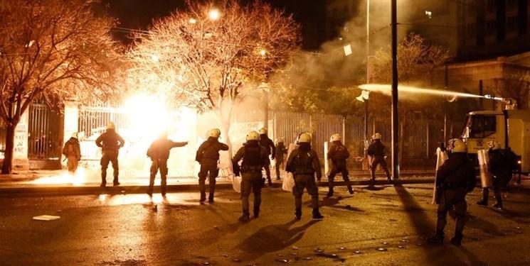 تظاهرات در یونان به خشونت کشیده شد