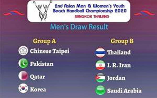 سیدبندی و گروه بندی هندبال ساحلی نوجوانان آسیا انجام شد ، ایران در سید دو و گروه دو