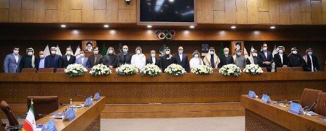 ملاقات هیات ورزشی قطر با مسئولان ایران در تهران (