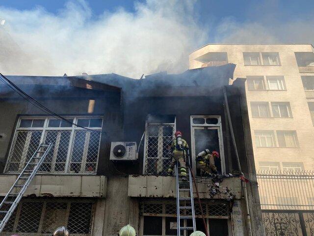 حریق چاپخانه در لاله زار