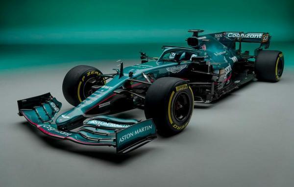 تیم استون مارتین از خودروی فرمول یک فصل 2021 خود رونمایی کرد