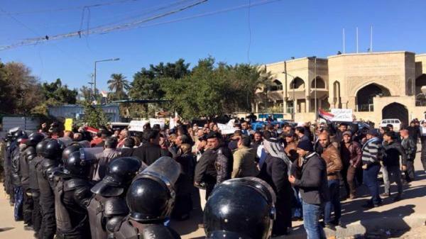 تظاهرات در برابر سفارت ترکیه در عراق