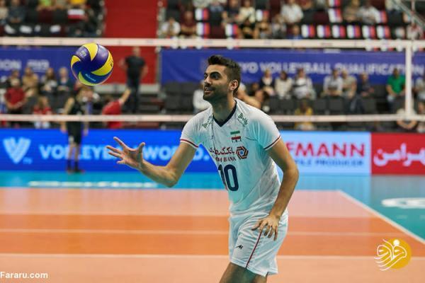 رونمایی از بازیکن تازه والیبال ایران مقابل فرانسه